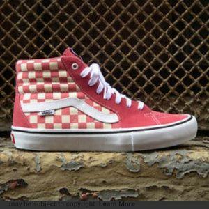 NWT Vans Sk8-Hi Pro Checkerboard Shoe W 9.5, M 8